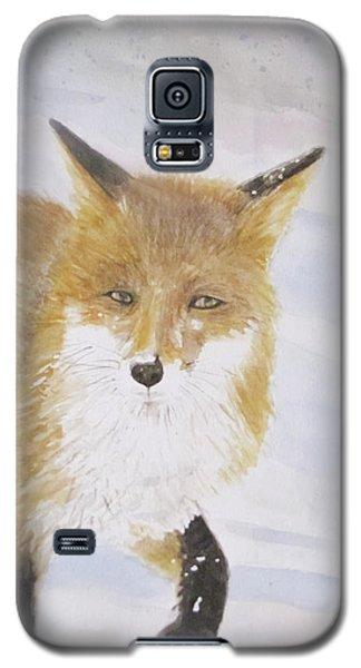 Red Fox Walk Galaxy S5 Case by Annie Poitras