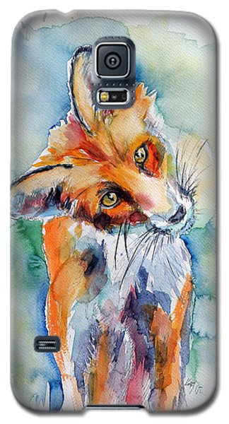 Red Fox Watching Galaxy S5 Case