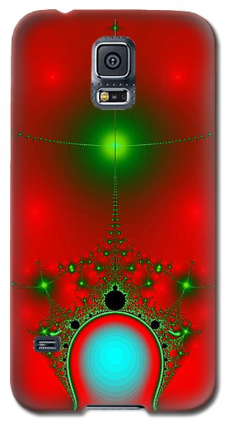 Galaxy S5 Case featuring the digital art Red Fractal by Charmaine Zoe
