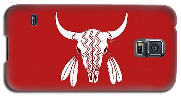 Red Ghost Dance Buffalo Galaxy S5 Case by Steamy Raimon