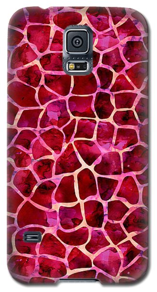 Red Giraffe Print Galaxy S5 Case