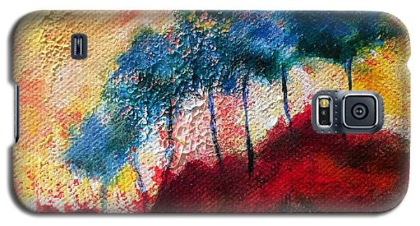 Galaxy S5 Case featuring the painting Red Glade by Elizabeth Fontaine-Barr