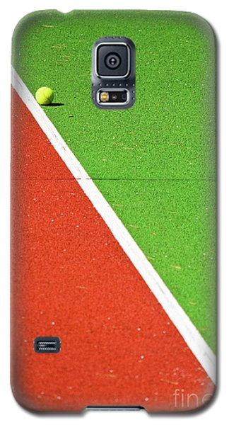 Red Green White Line And Tennis Ball Galaxy S5 Case