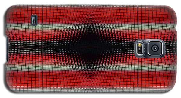 Red Grid Abstract Galaxy S5 Case