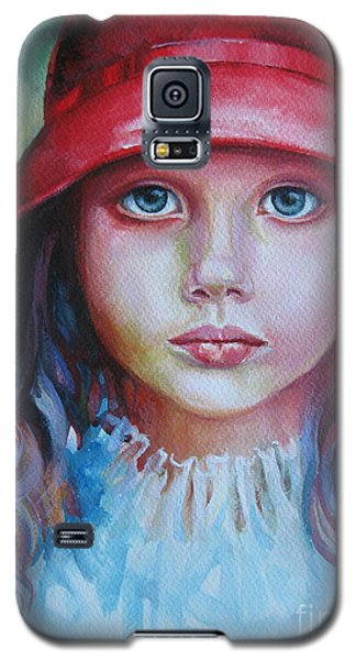 Galaxy S5 Case featuring the painting Red Hat by Elena Oleniuc