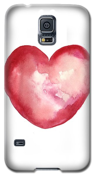 Red Heart Valentine's Day Gift Galaxy S5 Case by Joanna Szmerdt