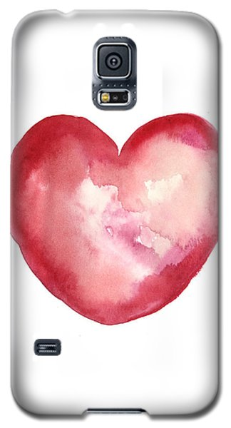 Red Heart Valentine's Day Gift Galaxy S5 Case