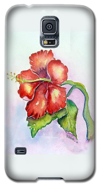 Red Hibiscus Galaxy S5 Case by Patricia Piffath