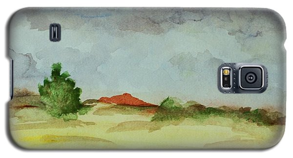 Galaxy S5 Case featuring the painting Red Hill Landscape by Vonda Lawson-Rosa