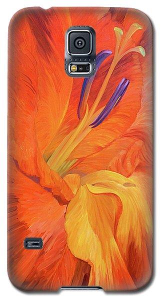 Red-hot Flower Galaxy S5 Case