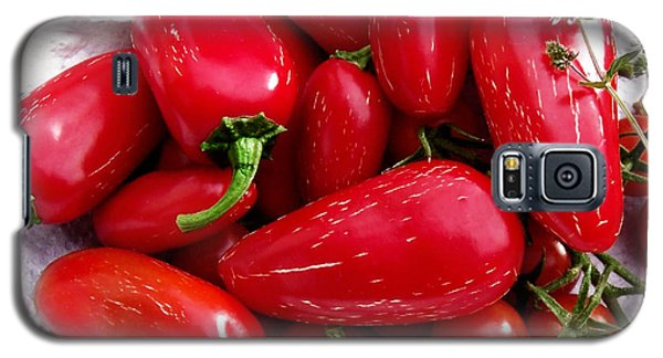 Galaxy S5 Case featuring the photograph Red Hot Jalapeno Peppers by Shawna Rowe
