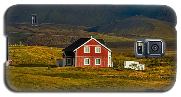 Red House And Horses - Iceland Galaxy S5 Case by Stuart Litoff