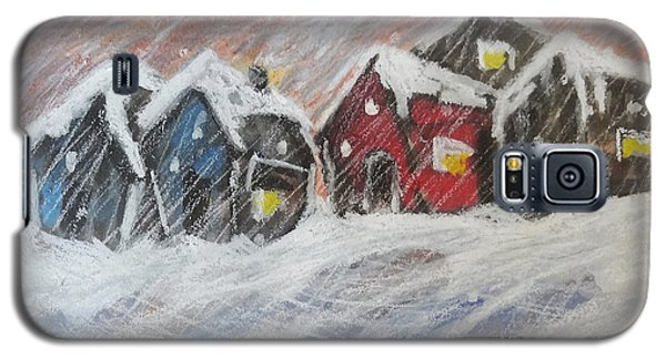 Red House In The Snow Galaxy S5 Case