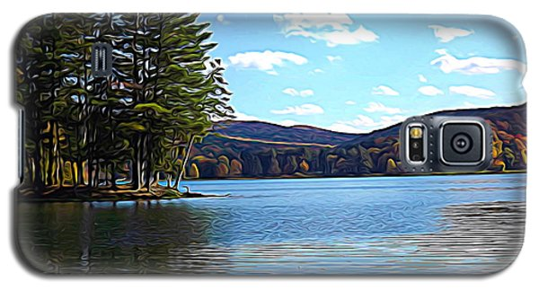 Red House Lake Allegany State Park In Autumn Expressionistic Effect Galaxy S5 Case