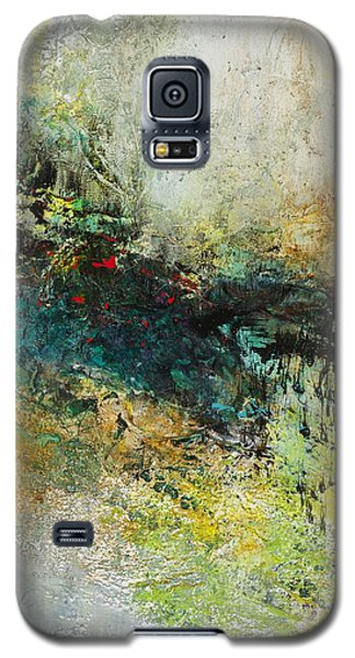 Galaxy S5 Case featuring the painting Red In The Landscape by Frances Marino