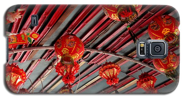 Galaxy S5 Case featuring the photograph Red Lanterns 1 by Randall Weidner