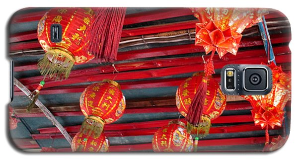 Galaxy S5 Case featuring the photograph Red Lanterns 2 by Randall Weidner