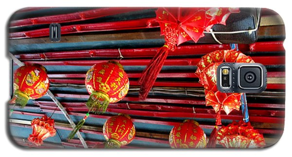 Galaxy S5 Case featuring the photograph Red Lanterns 3 by Randall Weidner
