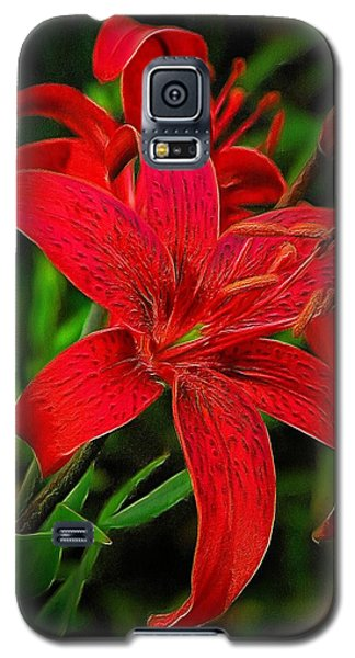 Red Lily Galaxy S5 Case