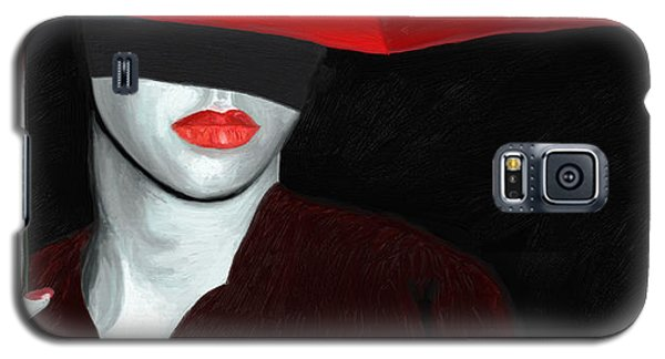 Red Lips And Umbrella Galaxy S5 Case