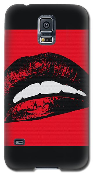 Red Lips Galaxy S5 Case by Edouard Coleman