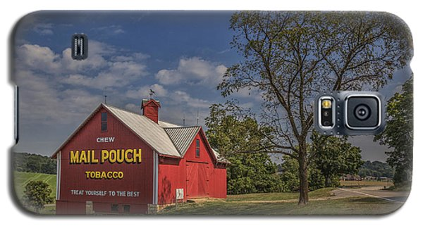 Galaxy S5 Case featuring the photograph Red Mail Pouch Barn by Wendell Thompson