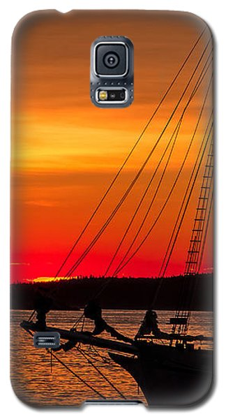 Red Maine Sunrise Galaxy S5 Case by Steven Bateson