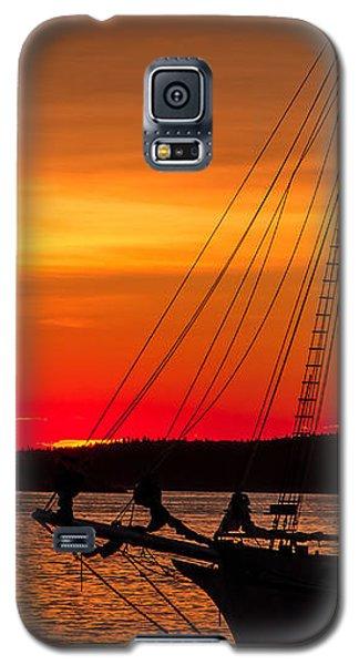 Red Maine Sunrise Galaxy S5 Case