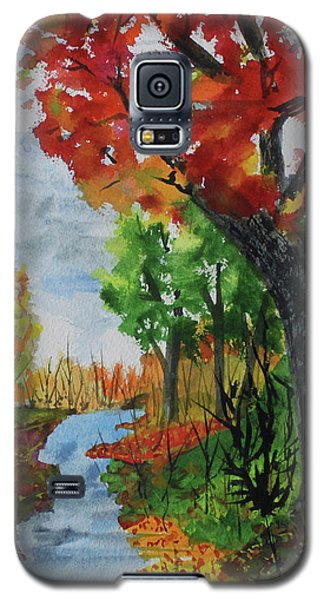 Red Maple Galaxy S5 Case