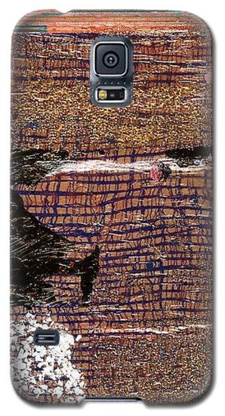 Red Moon Galaxy S5 Case by Carolyn Repka