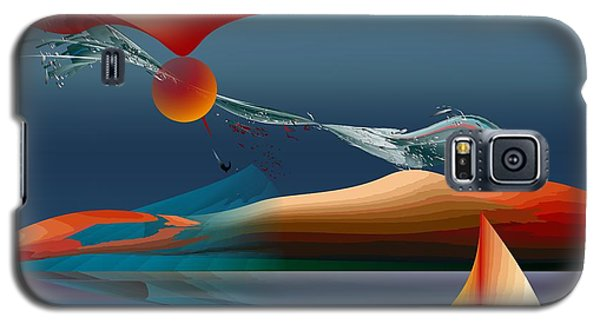 Red Moon Sign Galaxy S5 Case