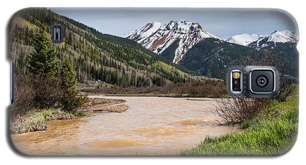 Galaxy S5 Case featuring the photograph Red Mountain And Red Mountain Creek by Jeff Goulden