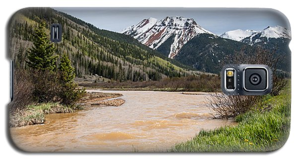 Red Mountain And Red Mountain Creek Galaxy S5 Case by Jeff Goulden