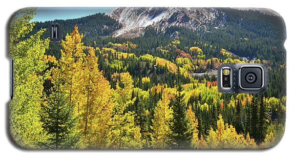 Galaxy S5 Case featuring the photograph Red Mountain Fall Color by Ray Mathis