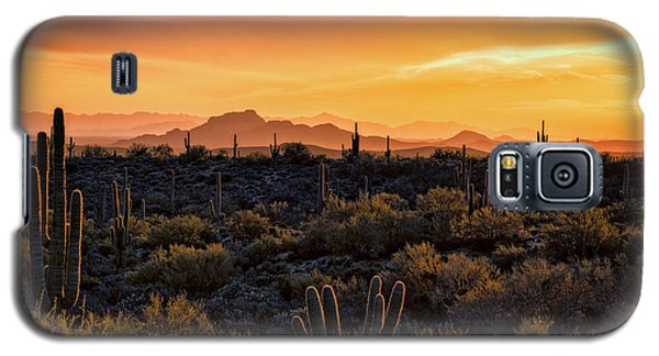 Galaxy S5 Case featuring the photograph Red Mountain Sunset Part Two  by Saija Lehtonen