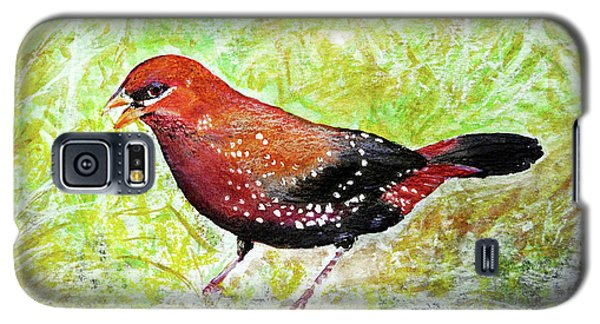 Red Munia Galaxy S5 Case by Jasna Dragun