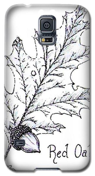 Red Oak Leaf And Acorn Galaxy S5 Case
