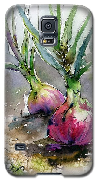 Red Onions Watercolors Galaxy S5 Case