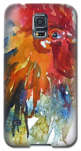 Galaxy S5 Case featuring the painting Red by P Maure Bausch