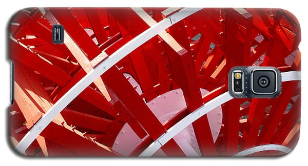 Red Paddle Wheel Galaxy S5 Case by Art Block Collections