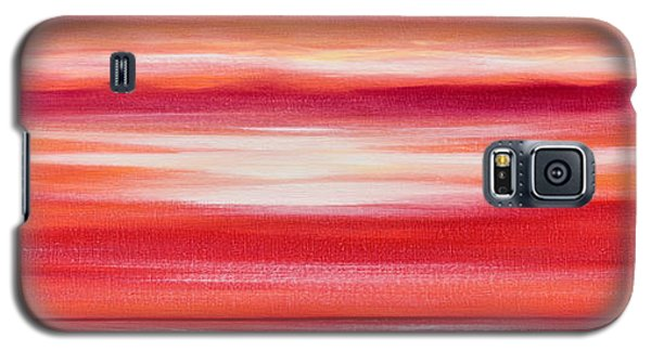 Red Panoramic Abstract Sunset Galaxy S5 Case