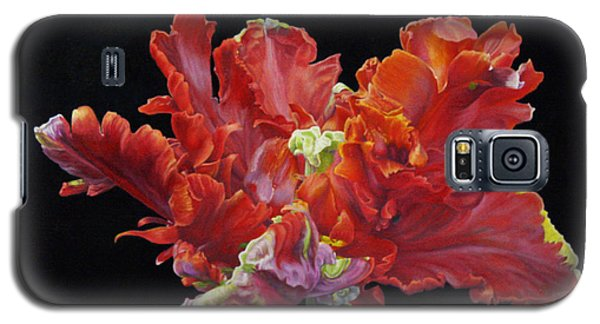 Red Parrot Tulip - Oils Galaxy S5 Case