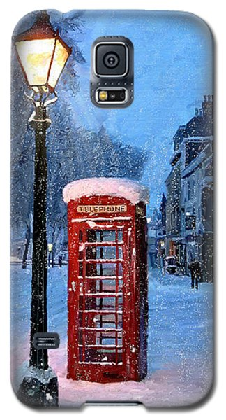 Galaxy S5 Case featuring the painting Red Phone Box by James Shepherd
