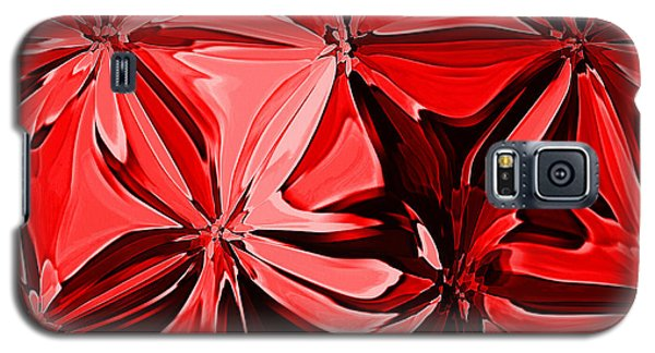 Red Pinched And Gathered Galaxy S5 Case