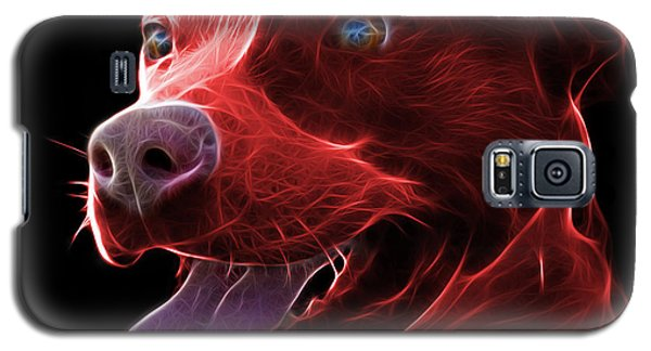 Red Pit Bull Fractal Pop Art - 7773 - F - Bb Galaxy S5 Case