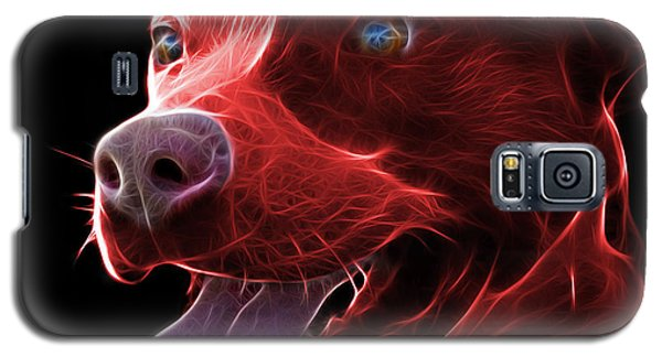 Red Pit Bull Fractal Pop Art - 7773 - F - Bb Galaxy S5 Case