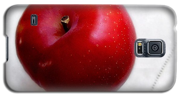 Red Plum On A White Cloth Galaxy S5 Case