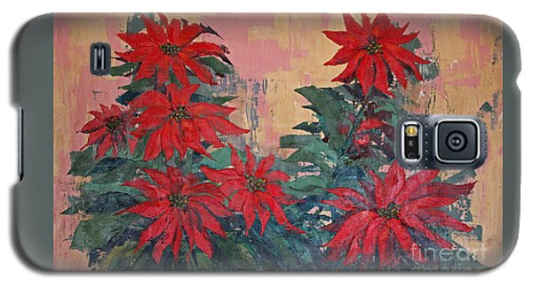 Red Poinsettias By George Wood Galaxy S5 Case