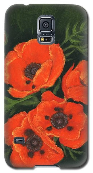 Galaxy S5 Case featuring the painting Red Poppies by Anastasiya Malakhova