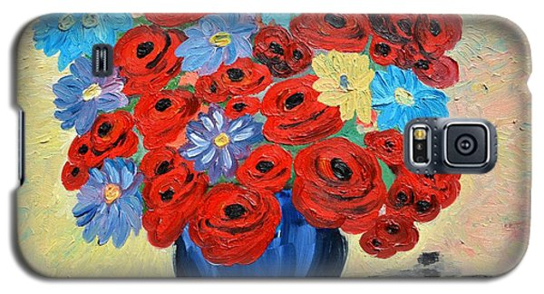 Red Poppies And All Kinds Of Daisies  Galaxy S5 Case